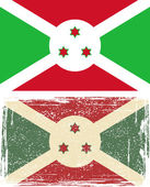 Burundi grunge flag. Vector illustration — ストックベクタ