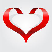 Abstract heart symbol. Vector illustration — Vettoriale Stock