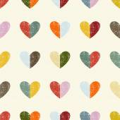 Seamless pattern with hearts. Vector illustration. — Stock Vector