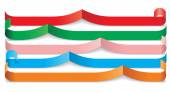 Set of different paper ribbons. Vector — Stockvector