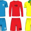Set of different soccer uniform. Vector — Stock Vector #69789775