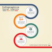 Infographic design template. Vector illustration. — Stock Vector