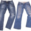 Mans and womans blue jeans isolated on white background. — Stock Photo #71658379