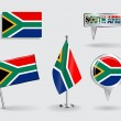 Set of South African pin, icon and map pointer flags. Vector — Stock Vector #74794339