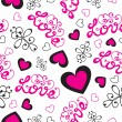 Cute valentine's seamless pink pattern — Stock Vector #71122285