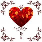Vector Geometric Mosaic Heart — Cтоковый вектор