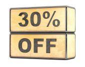 30 percent sale discount — Stock Photo