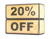20 percent sale discount — Stock Photo