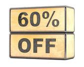 60 percent sale discount — Stock Photo