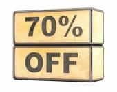 70 percent sale discount — Stock Photo