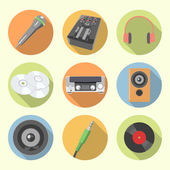 Audio equipment icon set — Stock Vector