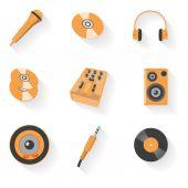 Audio equipment icon set — Stock Vector