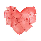 Metal plates in heart shape — Stock Photo