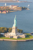 Aerial View of Statue of Liberty, New York — Stock Photo