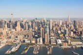 New York Midtown Aerial View — Photo
