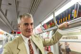 Senior Businessman in the Subway Train — Stock Photo