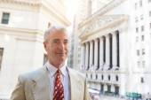 Senior Businessman in New York Financial District — Stock Photo