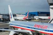NEW YORK, USA - SEPTEMBER 10, 2014: American Airlines Boeing 767 — Stock Photo