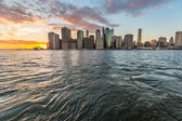 New York Downtown at Sunset — Stock Photo