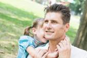 Father and Daughter Playing at Park — Stockfoto