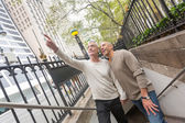 Gay Couple Visiting New York — Stock Photo