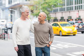 Gay Couple Walking in New York — Stock Photo
