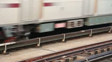 Passenger Train on railway — Stock Video