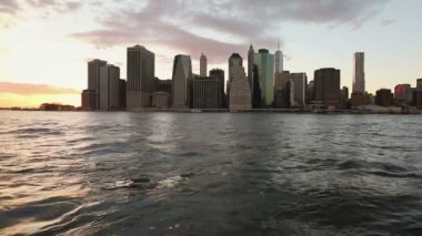 New York at Sunset — Stock Video