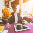 Young Businesswoman Having a Break at Bar — Stock Photo #55056753