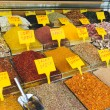 Colorful Spices at Egyptian Market (Spice Bazaar) in Istanbul — Stok fotoğraf #57108347