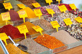 Colorful Spices at Egyptian Market (Spice Bazaar) in Istanbul — Stock Photo