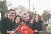Group of Turkish Friends in Istanbul — Zdjęcie stockowe