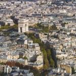 Arc de Triomphe seen from Tour Eiffel — Stock Photo #58689005