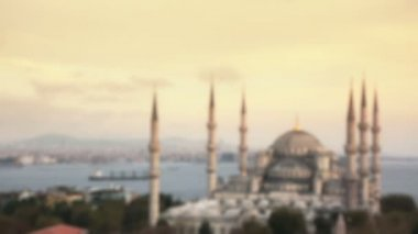 Blue Mosque in Istanbul at Sunset — Vidéo