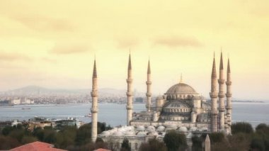 Blue Mosque in Istanbul at Sunset — Stock Video
