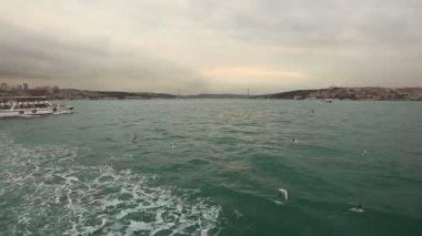 Crossing Bosphorus on Ferry Boat — Stock Video