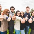 Multiethnic Group of Friends with Thumbs Up — Stock Photo #59233601