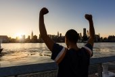 Successful Man with New York Skyline — Stock Photo