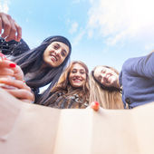Women Looking into Shopping Bag — Stock Photo