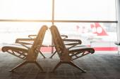 Empty Chairs in a Waiting Room at Airport — Stock Photo