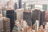 New York Aerial View on a Cloudy Day — Stockfoto