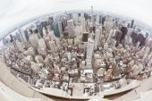 New York Aerial View on a Cloudy Day — Stock Photo