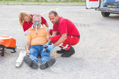 Rescue Team Providing First Aid — Stock Photo