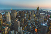 Aerial View of New York at Dusk — Stock Photo