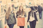Happy Women Walking — Stock Photo