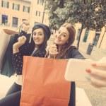 Women taking selfie — Stock Photo #62290851