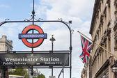 LONDON, UNITED KINGDOM - OCTOBER 30, 2013: Underground Westminst — Foto de Stock