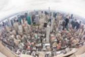 New York Aerial View on a Cloudy Day. Blurred Background. — Stock Photo