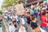 Thousands march in Staten Island. Blurred Background. — Stock Photo