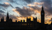 Westminster palace and Big Ben in London at sunset — Stock Photo